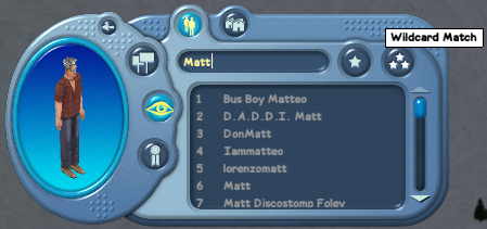 Wildcard Sim Name Search