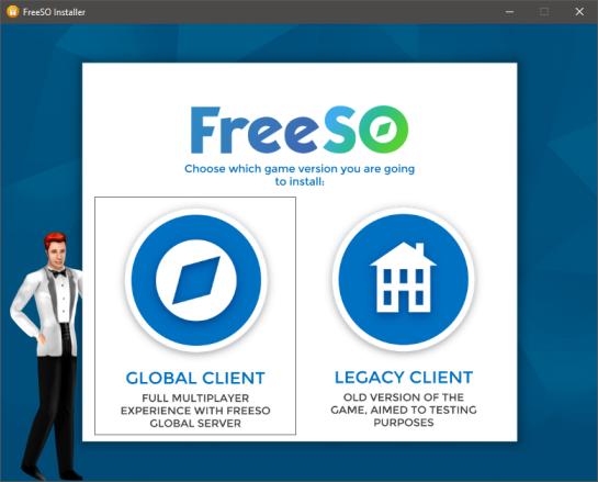 FreeSO Installer - Version Selection